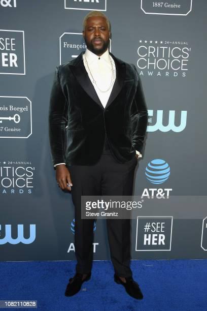 Winston Duke attends the 24th annual Critics' Choice Awards at Barker Hangar on January 13 2019 in Santa Monica California