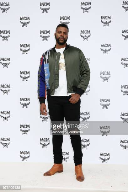 Winston Duke attends the MCM Fashion Show Spring/Summer 2019 during the 94th Pitti Immagine Uomo on June 13 2018 in Florence Italy