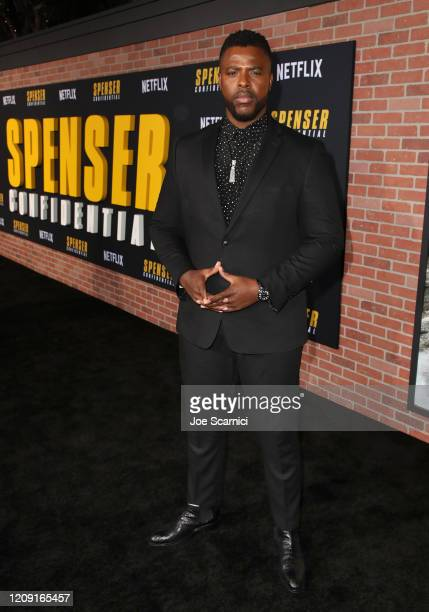 Winston Duke attends the Netflix Premiere Spenser Confidential at Westwood Village Theatre on February 27, 2020 in Westwood, California.