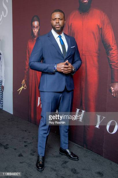 "Winston Duke attends the ""Us"" New York Premiere at Museum of Modern Art on March 19, 2019 in New York City."
