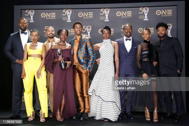 Winston Duke Carrie Bernans Michael B Jordan Lupita Nyong'o Chadwick Boseman Danai Gurira Sterling K Brown Letitia Wright and Ryan Coogler winner of...