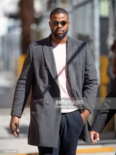 Winston Duke is seen at 'Jimmy Kimmel Live' on March 13, 2019 in Los Angeles, California.