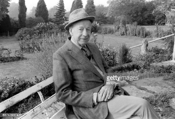 Winston Graham author novelist and screen writer October 1985 seated on a bench in his garden Winston Graham was born in Manchester on June 30 1910...