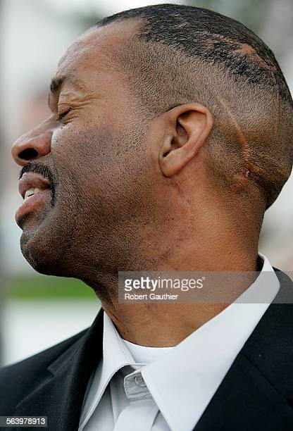 Winston Hayes talks about his day in Compton court Tuesday February 19 after testifying in his civil suit against 10 LA Sheriff deputies who fired...