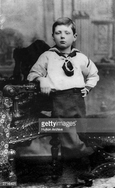 Winston Leonard Spencer Churchill aged 7 later British statesman and prime minister
