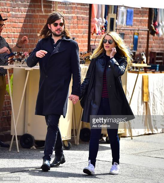 Winston Marshall and Dianna Agron are seen in Soho on April 13 2018 in New York City