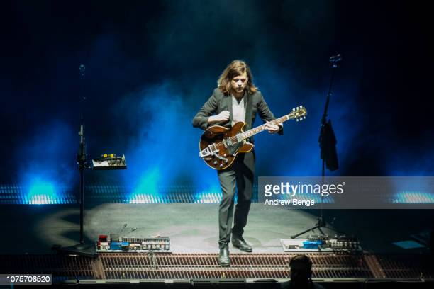 Winston Marshall of Mumford Sons performs at First Direct Arena on December 01 2018 in Leeds England