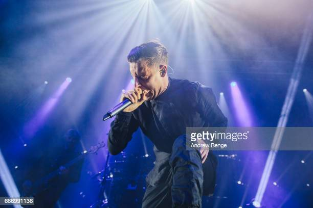 Winston McCall of Parkway Drive performs at O2 Academy on April 10 2017 in Leeds United Kingdom