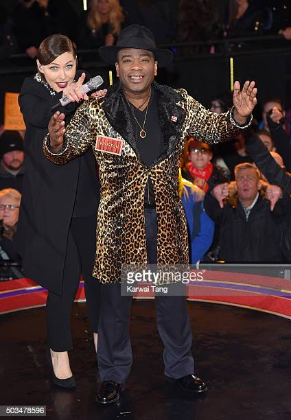 Winston McKenzie enters the Celebrity Big Brother House at Elstree Studios on January 5 2016 in Borehamwood England
