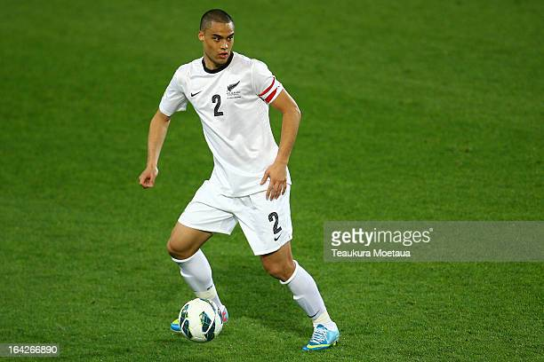 Winston Reid of the New Zealand All Whites looks to attack during the FIFA World Cup Qualifier match between the New Zealand All Whites and New...