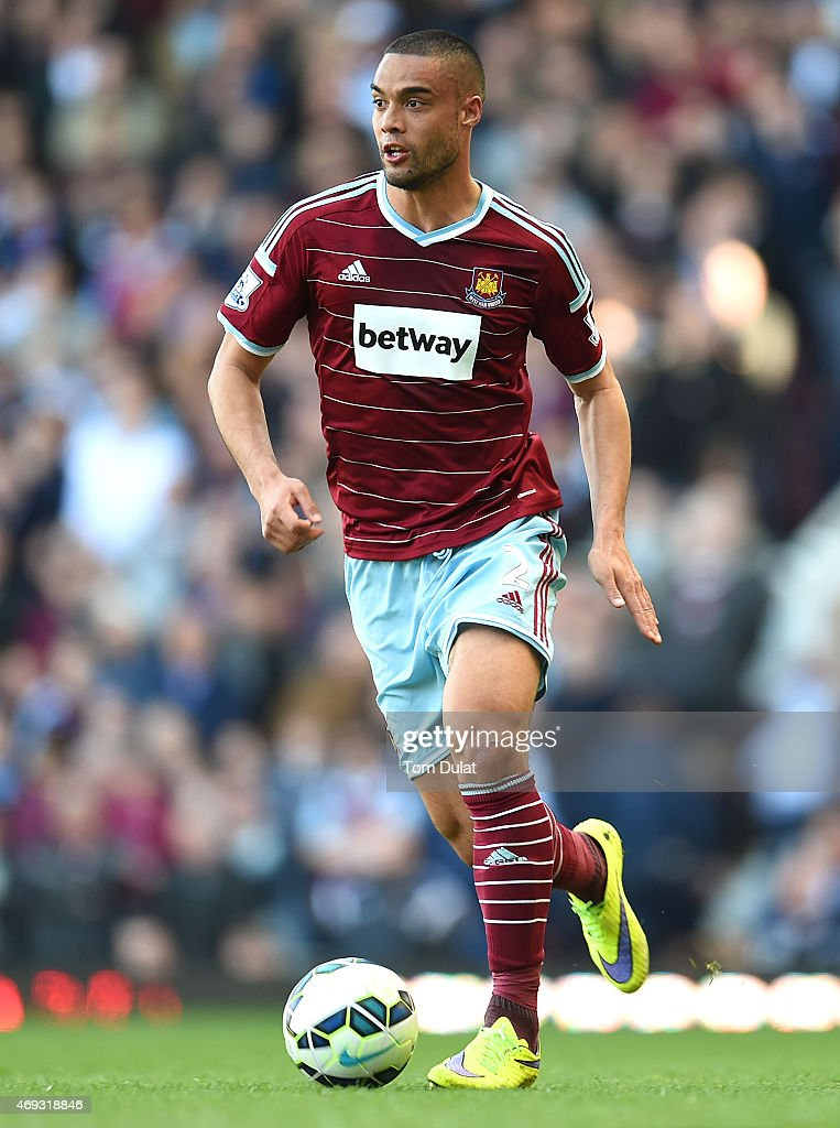 Winston Reid of West Ham in action during the Barclays Premier League match between West Ham United and Stoke City at Boleyn Ground on April 11, 2015 in London, England.