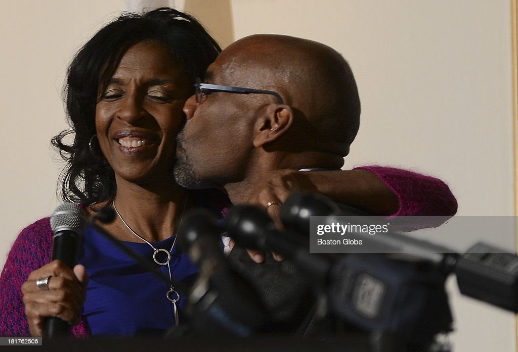Winston Richie, the husband of Charlotte Golar Richie, gives