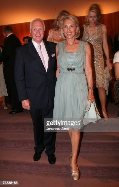 Winston Spencer Churchill and his wife Lucie attend the opening concert of Salzburg summer festival on July 27 2007 in Salzburg Austria