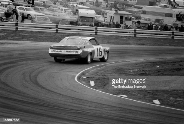 Winston Western 500 Race winner Mark Donohue of Penske racing driving his AMC Matador
