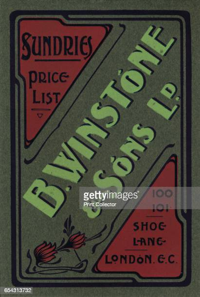 B Winstone Sons Ltd advertisement 1907 From The British Printer Vol XX [Raithby Lawrence Co Ltd London and Leicester 1907] Artist Unknown