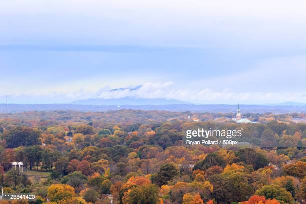 winston-salem in fall colors - winston salem stock pictures, royalty-free photos & images