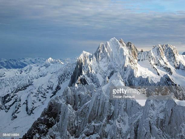 Winter above Chamonix