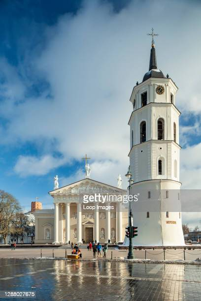 Winter afternoon at Vilnius Cathedral.