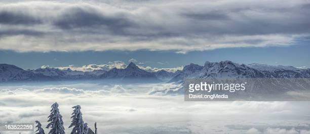 Winter Alpen Panorama