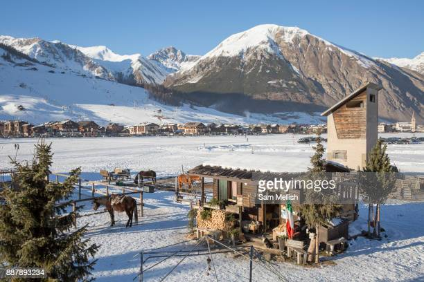 Winter American Themed Ranch in Livingo Italy on 3rd December 2017 in Livingo, Italy.