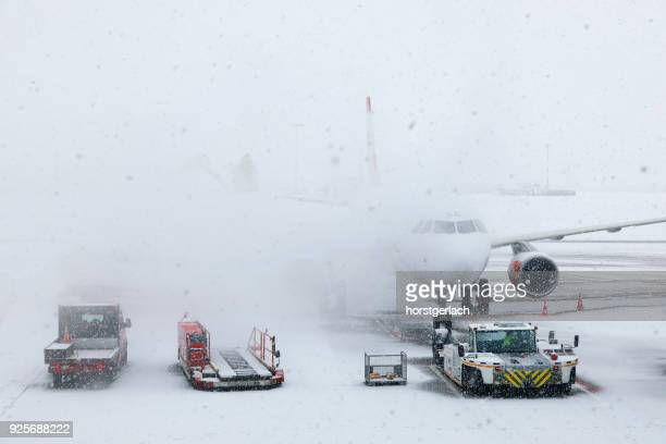 Winter at Hamburg International Airport