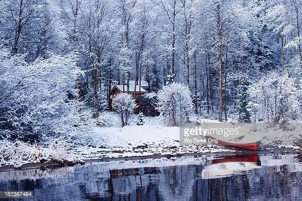 Winter at lake Inari