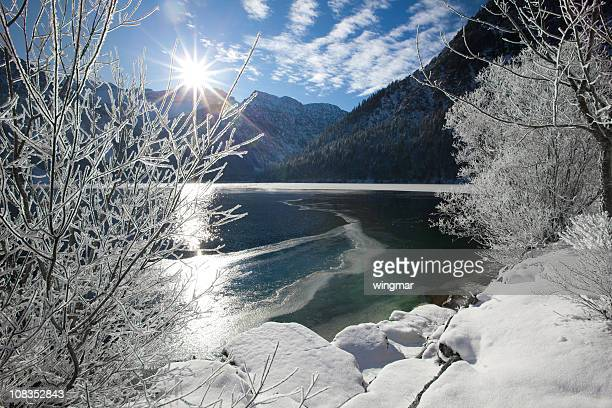 winter am See plansee in tirol – ÖSTERREICH