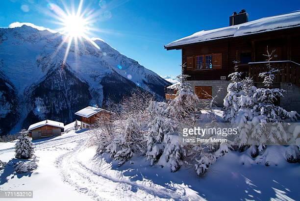 winter at Lauchernalp, Lötschental, Switzerland
