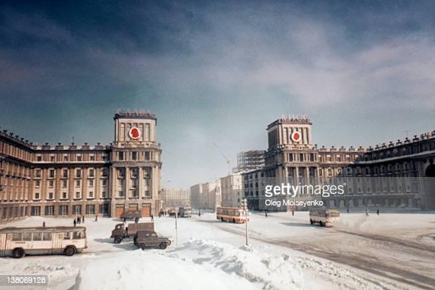 winter at norilsk - ex unione sovietica foto e immagini stock