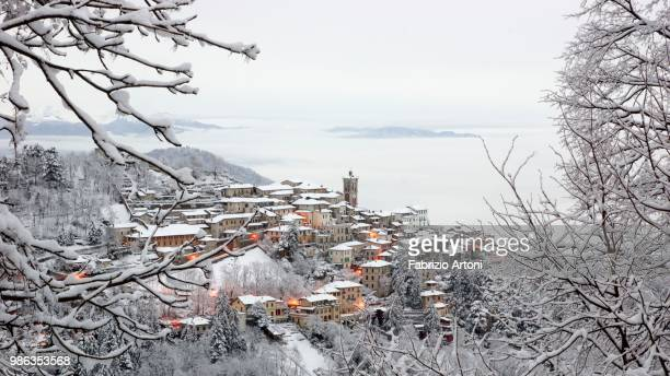 Winter at Sacro Monte di Varese in Lombary, Italy.