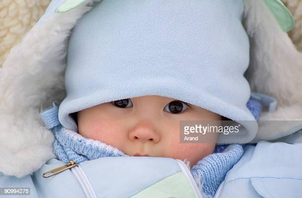 winter baby portrait