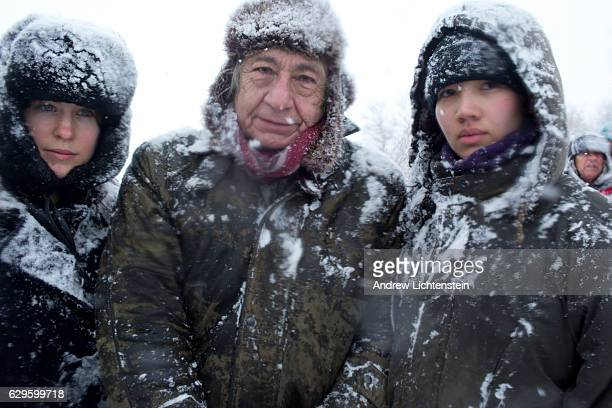 Winter blizzard descends on the camp Just outside of the Lakota Sioux reservation of Standing Rock, North Dakota, where over two hundred tribes,...