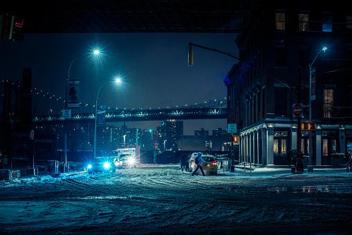 Winter blizzard in Brooklyn - gettyimageskorea