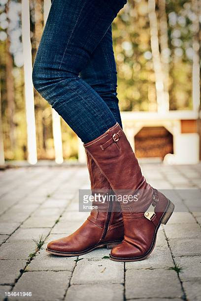 winter boots - leather boot stock pictures, royalty-free photos & images