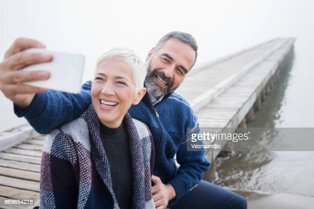 winter breaks - white hair stock pictures, royalty-free photos & images