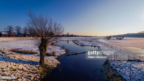 winter brook - william mevissen foto e immagini stock