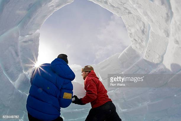 Winter Camping Guide and Camper Building Igloo