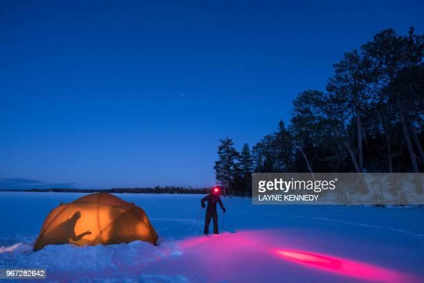 Winter camping, Minnesota