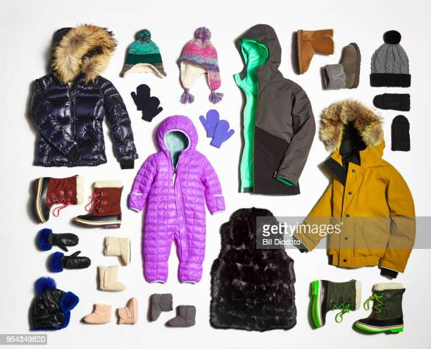 winter clothes - knolling concept stock pictures, royalty-free photos & images