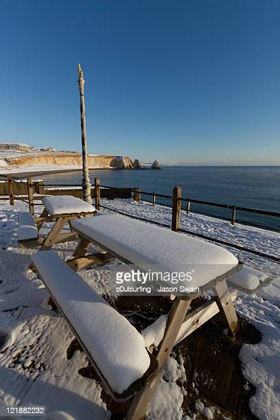 winter coastal landscape - s0ulsurfing stockfoto's en -beelden
