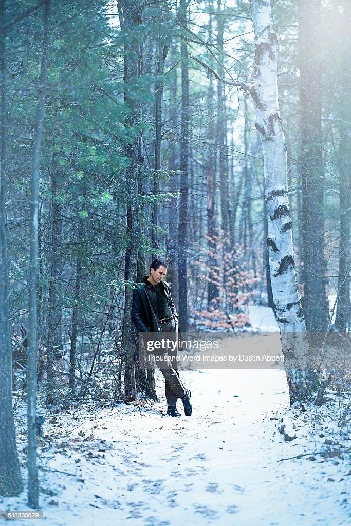 Winter contemplation : Stock Photo