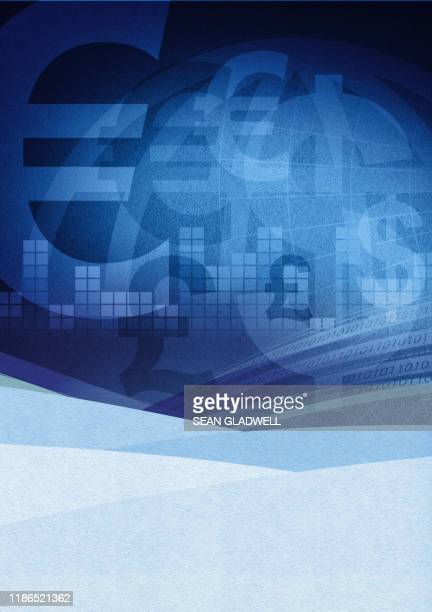 winter currency illustration - currency symbol stock pictures, royalty-free photos & images