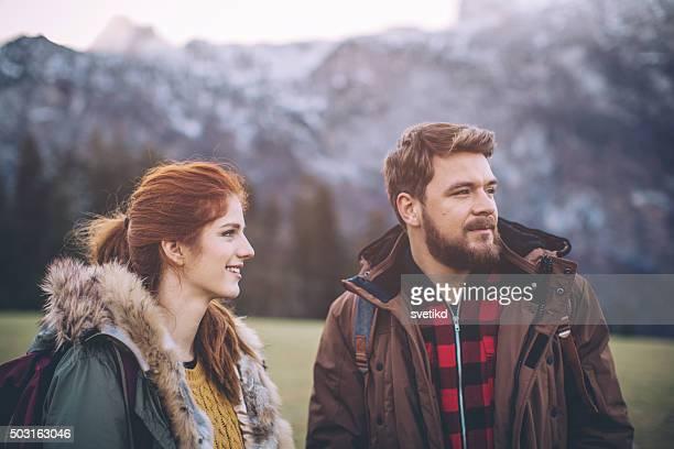 Día de invierno en las montañas