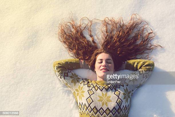 winter dreams - escapism stock photos and pictures