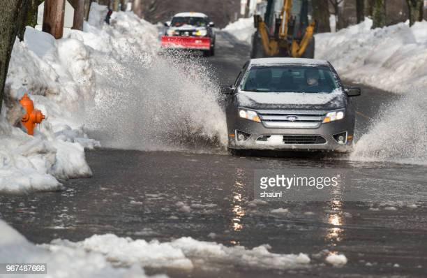 winter driving - weather stock pictures, royalty-free photos & images