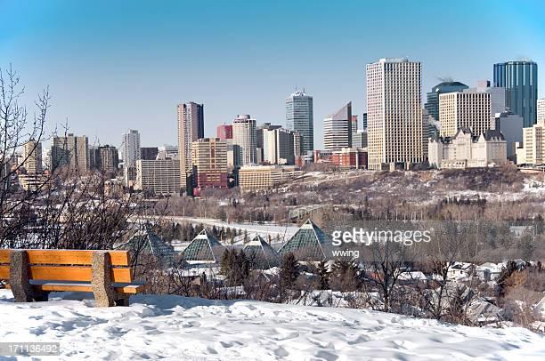 winter edmonton scene - edmonton stock pictures, royalty-free photos & images