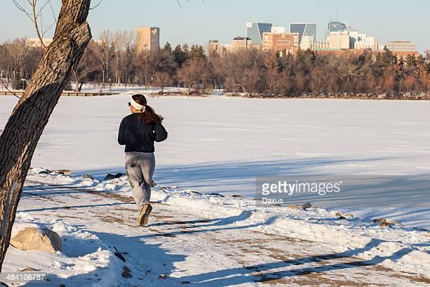 winter exercise - regina saskatchewan stock pictures, royalty-free photos & images