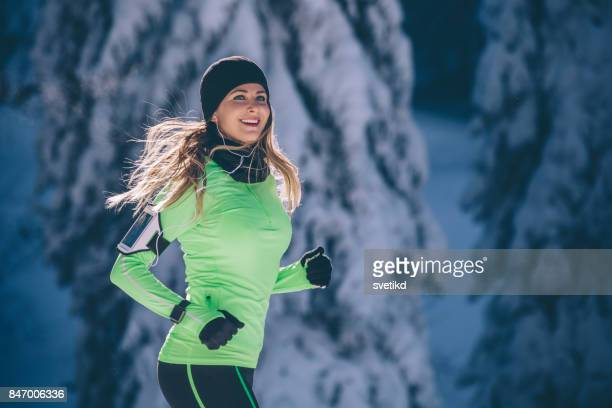 winter exercising - winter sport stock pictures, royalty-free photos & images