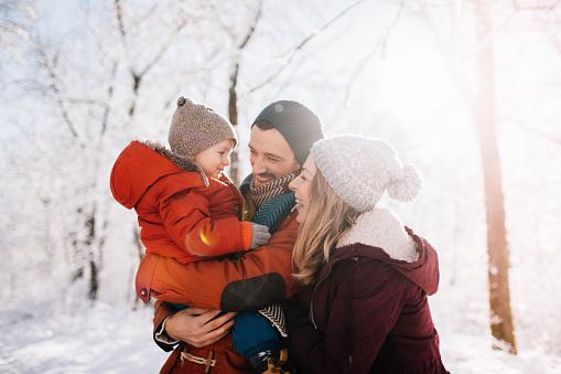 Winter family portrait 1005862384