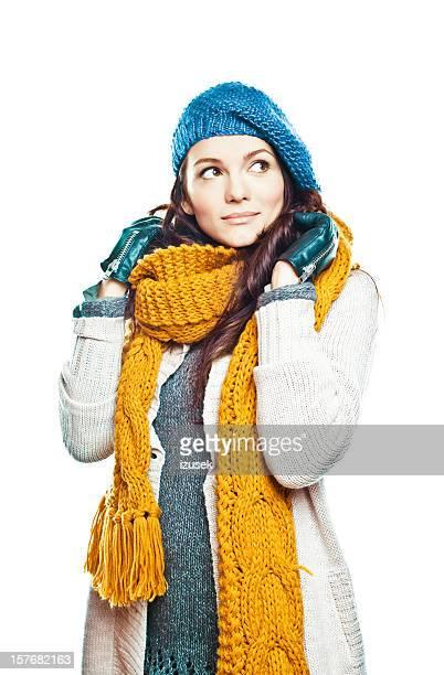 inverno mulher de moda - roupa quente - fotografias e filmes do acervo